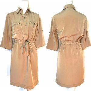 Mossimo Shirt Dress, Tan, Sz XS